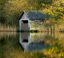 Rydal Water Boathouse by English Landscape Prints