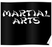 Martial Arts T-Shirt Train Learn Fight Poster