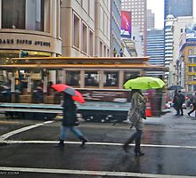 Powell Street in the Rain by David Denny