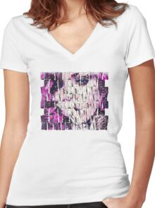 Rihanna Monster Women's Fitted V-Neck T-Shirt