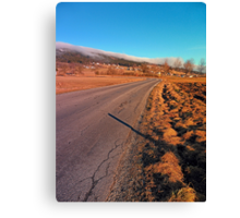 Winter road into the mountains | landscape photography Canvas Print
