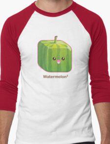 Cute Square Watermelon Men's Baseball ¾ T-Shirt
