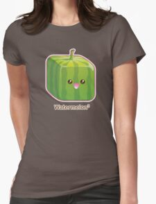 Cute Square Watermelon Womens Fitted T-Shirt