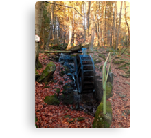 Water wheel in the wood   architectural photography Metal Print