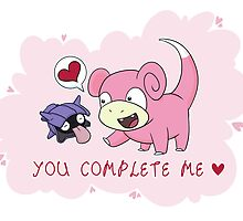 Valentines - Slowpoke and Shellder  by Rebecca Adams