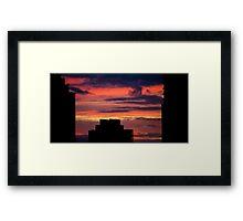 Sky Scraping Framed Print