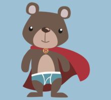 Cute Superhero Bear One Piece - Short Sleeve