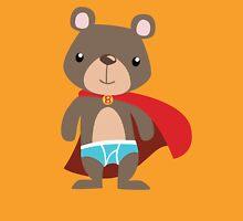 Cute Superhero Bear Womens Fitted T-Shirt