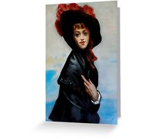 La Coquette after Gustave Jean Jacquet Greeting Card