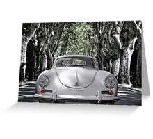 on the road with a 356 Greeting Card