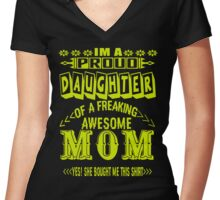 Proud Daughter Women's Fitted V-Neck T-Shirt