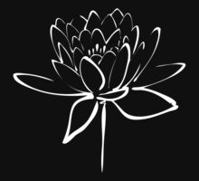 Lotus Flower Calligraphy Print (White) by Makanahele