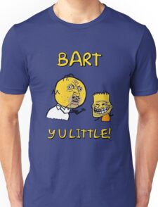 Y U Little Homer + Bart Simpson Mashup Meme Unisex T-Shirt
