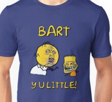Y U Little Homer + Bart Simpson Mashup Meme Unisex T-Shirt
