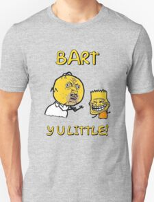 Y U Little Homer + Bart Simpson Mashup Meme T-Shirt