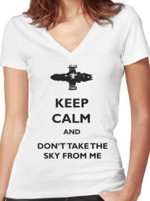 Keep Calm Firefly - Serenity Women's Fitted V-Neck T-Shirt