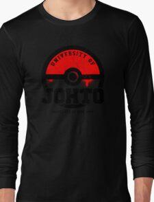 Pokemon - University of Johto (Grunge) Long Sleeve T-Shirt