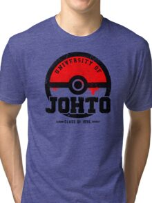 Pokemon - University of Johto (Grunge) Tri-blend T-Shirt