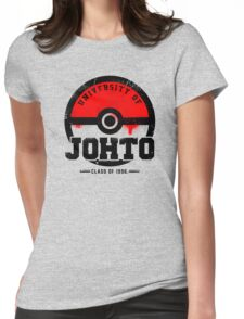 Pokemon - University of Johto (Grunge) Womens Fitted T-Shirt
