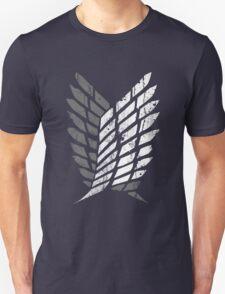 Attack On Titan - Survey Corps Logo (Grey Grunge ) T-Shirt