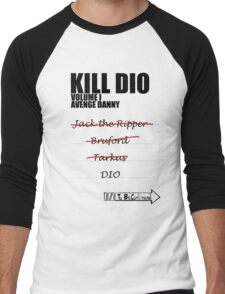 KILL DIO (Black) Men's Baseball ¾ T-Shirt