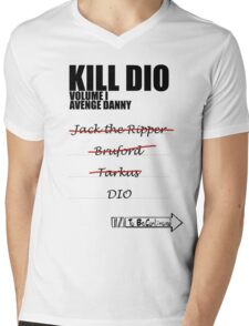 KILL DIO (Black) Mens V-Neck T-Shirt
