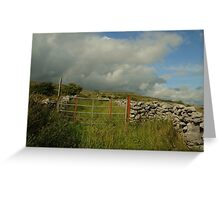 Gateway to The Burren County Clare Ireland Greeting Card