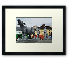 The Irish Farmer Makes a Deal at the Cattle Market Framed Print