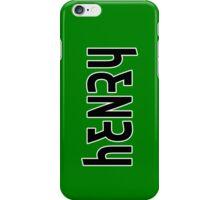 Henry ambigram iPhone Case/Skin