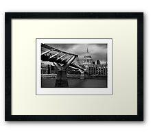 Millenium bridge and St Pauls  Framed Print