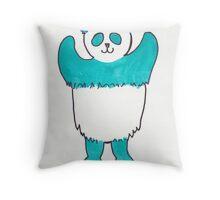 Turquoise Panda Throw Pillow