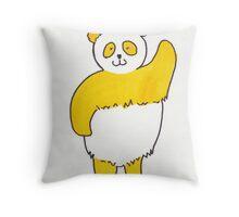 Yellow panda Throw Pillow