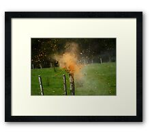 Exploding Can Framed Print