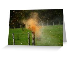 Exploding Can Greeting Card