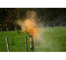 Exploding Can Photographic Print