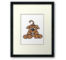playful dog Framed Print