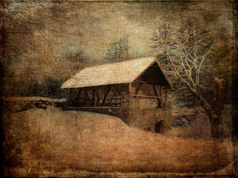 Winter at the Mill by PineSinger