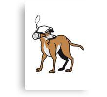 crook dog Canvas Print