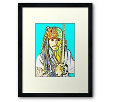 Johnny Depp in Pirates of the Caribbean Framed Print