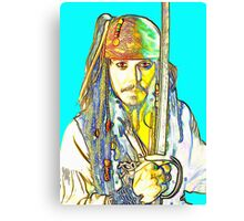 Johnny Depp in Pirates of the Caribbean Canvas Print