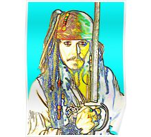 Johnny Depp in Pirates of the Caribbean Poster