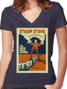Earthquake! Women's Fitted V-Neck T-Shirt