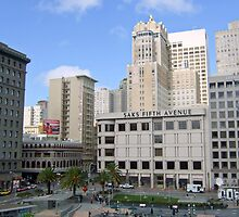 Union Square , San Francisco  by Bill Lighterness