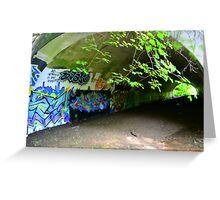 Graffiti in a tunnel Greeting Card