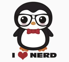 penguin I love nerd by stillhere