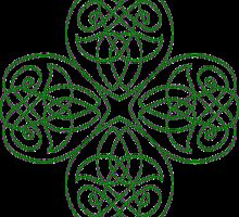 Irish Shamrock - line Art for St-Patrick's Day by Anne Guimond