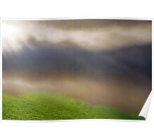 A Foggy Day with the first Rays of Sun Poster