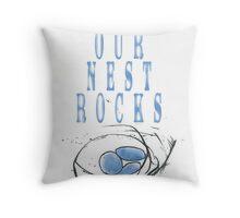 blue nest Throw Pillow