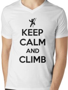 Keep calm and climb on Mens V-Neck T-Shirt