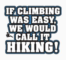 If climbing was easy, they would call it hiking by nektarinchen